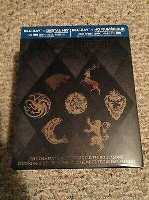 Game Of Thrones Box Set The Complete First, Second, Third Seasons 1-3 BluRay