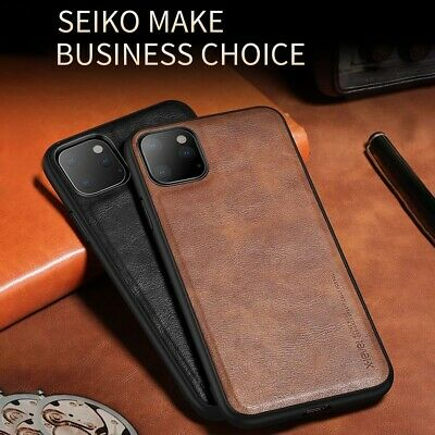 For iPhone 11 Pro Max Xs Xr X 8 7 6s Plus Back Case Genuine Leather Bumper Cover