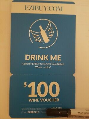 $100 Naked Wines Voucher new and un-used