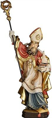 Statue St.Martin Siegfried cm 20 Carved Wood of Valgardena Decorated by Hand