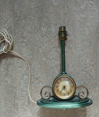 Table Lamp Clock Smiths Sectric Electric