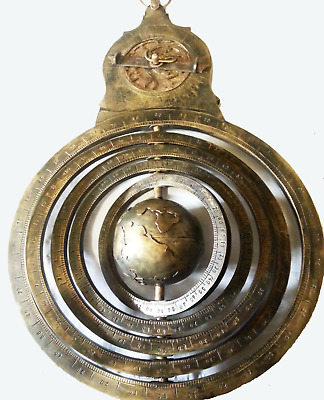 Antique Nautical Islamic Brass Astrolabe Persian Globe Navigation  Astrologic