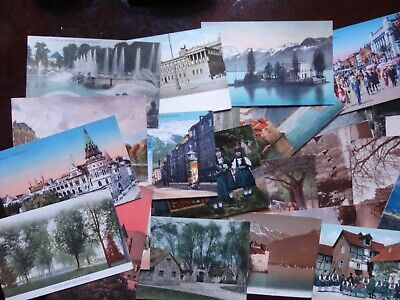 Lot Of 150 + Vintage Foreign Postcards , Many Places