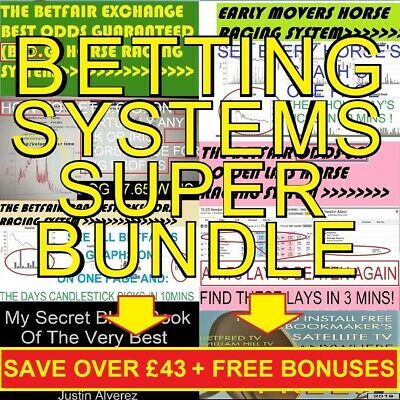 Betfair Betting Systems Full Pro Bettor Package Horse Racing + Soccer + Trading!