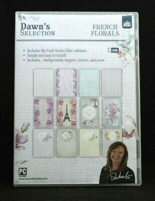 French Florals My Craft Studio USB - Dawn's Selection Background Topper Free P&P