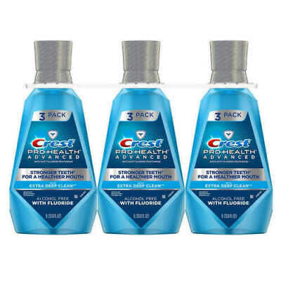 Crest Pro-Health Advanced Mouthwash 1 L 33.8 oz  3 Pack Extra Deep Clean SEALED