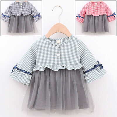 Children Dress Baby Party Plaid Dress Princess Fashion Girls Birthdays