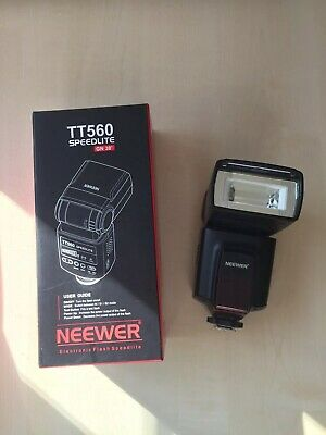Neewer TT520 Speedlite (speedlight) for Nikon or Canon, perfect condition