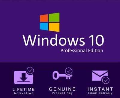 Official Windows 10 Pro Key Instant Delivery 32/64 Bit Activation Code