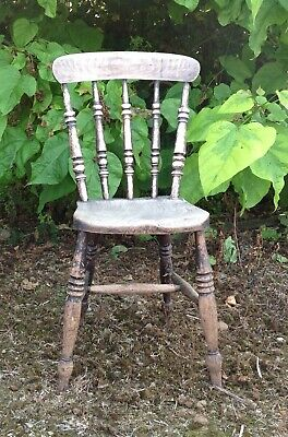 Old English elm seated kitchen chair