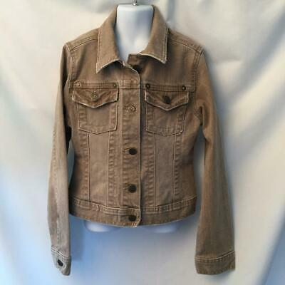 Gap Kids Girls Denim Jean Jacket Beige Tan Size M (8)