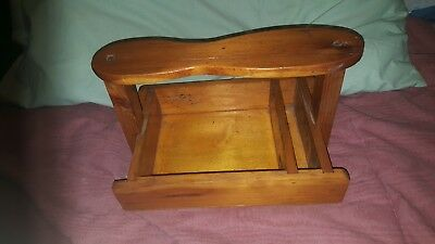 Vintage Retro ? Wooden Pine Shoe Polish Holder