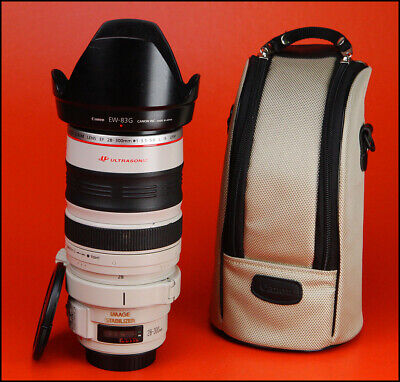 Canon EF 28-300mm f3.5-5.6 L IS USM Lens With Both Caps, Hood & Canon Case