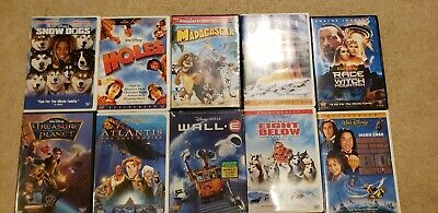 Disney DreamWorks Pixar Dvd Lot 10 Titles See Pics.  Madagascar Wall-E Etc