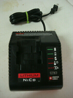 PORTER CABLE PCXMVC Charger for18V Li-Ion & NiCad NiMh Battery Ex. Cond