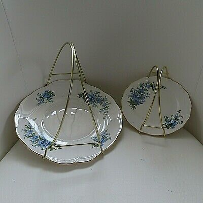 2 x plates x Sandwich Plate / Cake Plate / Cake Stand with handle