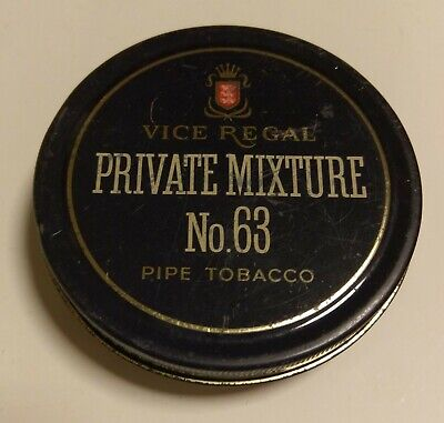 Vintage Vice Regal Private Mixture No.63 Pipe Tobacco Tin Sydney Australia