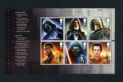 GB 2015 Booklet pane STAR WARS  SG 3758b  MNH / UMM FV£4.20