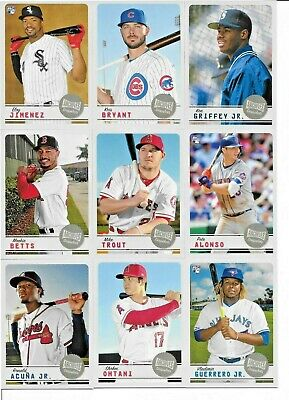 2019 Topps Archives Snapshots COMPLETE BASE SET (50) Cards Alonso - Guerrero+