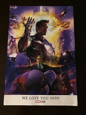 D23 EXPO EXCLUSIVE Marvel Avengers Endgame WE LOVE YOU 3000 TOUR Poster Promo