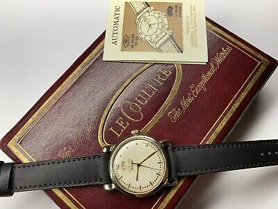 vintage lecoultre 40 hour power reserve automatic wristwatch with box & papers