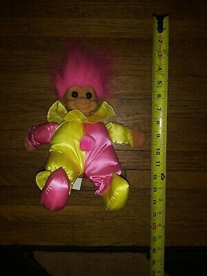 "Russ Clown Troll Doll X Large 11"" Soft Body Plush 13"" including Pink Hair 3604"