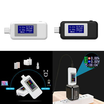Type-C USB Volt Current Voltage Doctor Charger Capacity Tester Meter Power vbn
