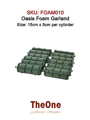 Garland of 12 x Oasis Wet Foam Cylinders (For Fresh Flowers)