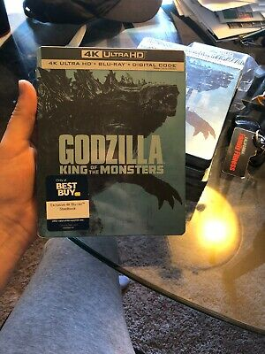 **FREE SHIPPING** Godzilla King of the Monsters Steelbook 4K UHD
