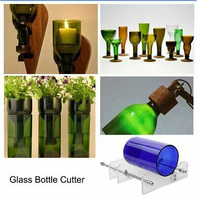 Creative Glass Wine Beer Bottle Recycle Cutter Sculptures Cutting Machine AU