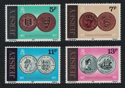 Jersey Coins Centenary of Currency Reform 4v MNH SG#171-174