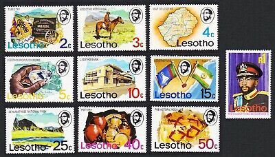Lesotho Horses Diamond Flags Archaeology Prehistoric Man Definitives 10v MNH