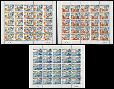 New Caledonia Olympic Games 3 sheetlets of 25v each MNH SG#1449 MI#1466-1468