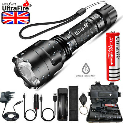 Powerful Tactical Military 250000LM T6 LED Flashlight Torch Work Light Headlamp