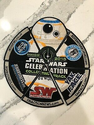 Star Wars Celebration Anaheim Patch 2015 Collecting Track Patch Set BB-8  Rare