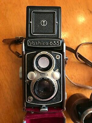 Camera Yashica 635 Medium Format TLR and Accessories
