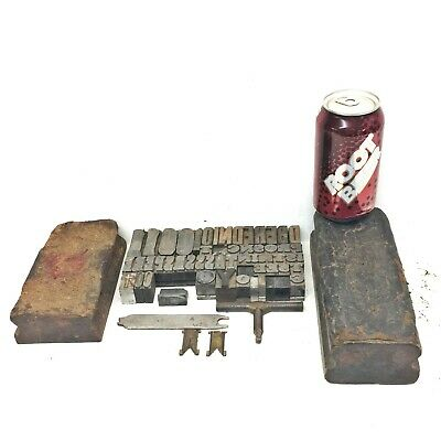 Lot of Misc Letterpress Items, Type, etc.. junk drawer bench top cleanout