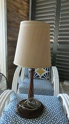 Stunning Victorian Wooden Barley Twist Lamp Base Shade Incl If Required P/Up