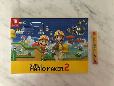 Super Mario Maker 2 Sketch Book & Stylus NEW
