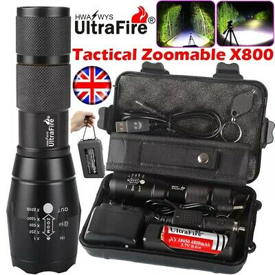 150000lm Genuine Ultrafire CREE XML T6 LED Tactical Flashlight Military Torch