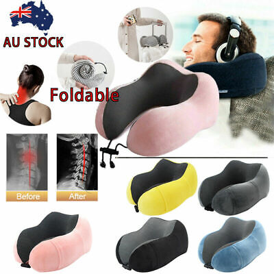 High Quality Memory Foam U Shaped Travel Pillow Neck Support Airplane Cushion G