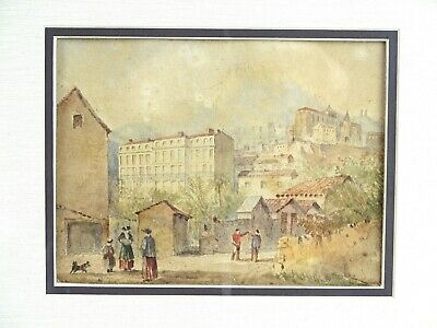 Art Sale : Fine Antique Watercolour Gibraltor Early c19thC English Red Coat
