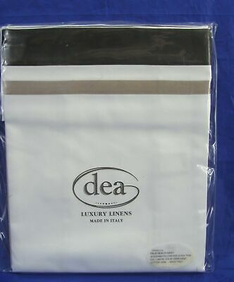 "Nwt Dea Italy Palm Beach Raso Pair 2 Standard Pillowcases 20""X32"" 100% Cotton"
