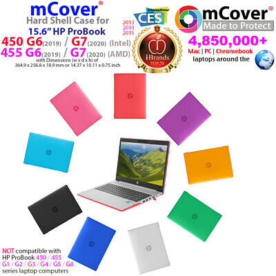 """NEW mCover® Hard Shell Case for 15.6"""" HP ProBook 450 455 G6 AMD Windows laptop"""