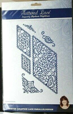Tattered Lace Winter Solstice Lace Parallelogram Die Set 460330 FREE P & P