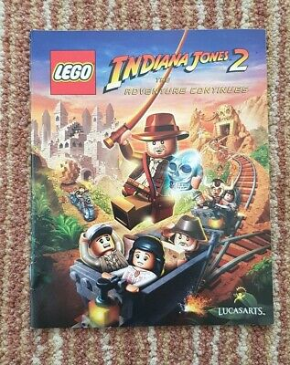 Lego Indiana Jones 2: The Adventure Continues MANUAL ONLY.  PS3