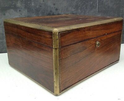 NOW REDUCED! William Wilson Antique rosewood travel box with Ganstin crest