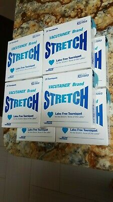Vacutainer Brand Stretch Tourniquet Latex Free 8 Boxes of 25 Each 367203