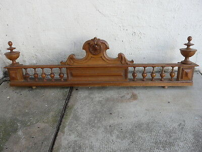 Antique Large French Pediment Carved Wood Architectural Piece