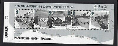 GREAT BRITAIN 2019 STAMPEX OVERPRINT D-DAY FINE USED, No. 5252 LIMITED EDITION